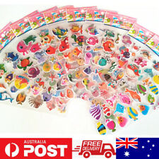 1x One Random No Repeat Sheet 3D PVC Puffy Stickers For Kids Scrapbook