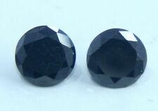 Cut Black Moissanite Gem Ring Size Pair Ggl Certified 3 to 4 Ct Nice Round