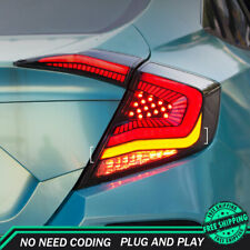 New For Honda Civic LED Taillights 2016-2019 Dark Or Red LED Rear Lamps Dynamic
