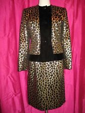 80s JACQUELINE DE RIBES PARIS lame & velvet COCKTAIL DRESS JACKET size 8 COUTURE