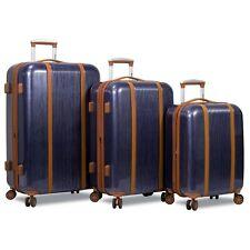 Dejuno Monroe 3-Piece Hardside Spinner TSA Combination Lock Luggage Set - Blue