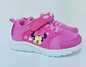 New Disney Minnie Mouse Lightweight Athletic Sneaker Sport Shoes Girls Size 10