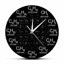 Chemical Formulas As Time Numbers Wall Clock Home Art Decoration Silent Clocks