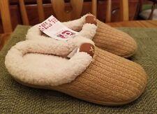 New Women's DF By Dearfoams Clog Slipper Shoes SZ US M 5-6 Beige