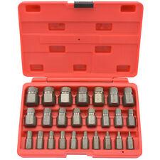 Multi-Spline Screw Extractor | 25pc Set Hex Head Bit Socket Wrench Bolt Remover