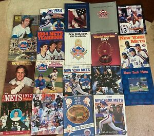 NY Mets Vintage Yearbooks and Programs