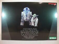 """Star Wars """"Yoda & R2-D2"""" Figur Starwars Dagobah Pack Kotobukiya ARTFX+"""