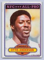 """1980 OTIS ANDERSON - Topps All Pro """"ROOKIE"""" Football Card- # 170 - Cardinals"""