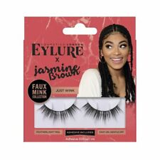 NEW EYLURE X JASMINE BROWN FALSE EYELASHES FAUX MINK COLLECTION    JUST WINK