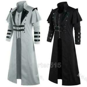 Men's Medieval Steampunk Coat Trench Coat Clothing Photography Gothic TrenchCoat