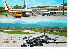 Airport postcard-Klagenfurt Austria & Modern Air Transport CV990 aircraft