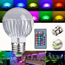 1X 5W Dimmable E27/ B22 RGB LED Spot Lights Bulbs 16 Colors Changing Lamp+Remote