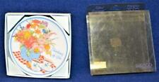 """Nib 1991 Enesco Porcelain Thinking of You Gifted Greeting 4 1/4""""d Plate"""