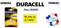 Piles boutons lithium Duracell CR2025 3V, ** Expédition Rapide Et Gratuite **