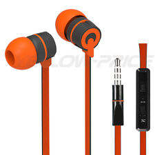 In-EAR Style Stereo 3.5mm Jack Earbuds Earphones w/ Mic ON/OFF Earphone Orange