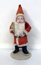 Vintage Santa Claus Occ Japan Figurine - Cloth Felt Paper Mache Composition Face