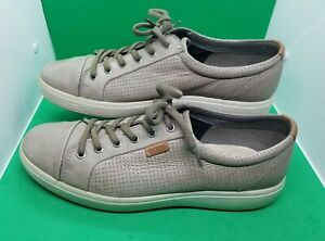 Ecco Extra Width Tan Perforated Golf Sneakers Shoes Men's 46 / US 12/12.5