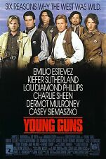 YOUNG GUNS Kiefer Sutherland Orignal Rolled Single Sided 27x41 Movie Poster 1988