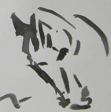 JOSE TRUJILLO ABSTRACT EXPRESSIONISM INK WASH MINIMALISM Horse Portrait Artwork