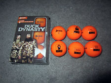 DUCK DYNASTY 6-Pack Hunter Orange Srixon GOLF BALL SET Collector's Item A&E Show