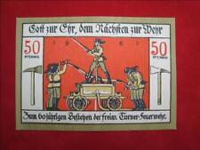 Notgeld Bad Langensalza 50 Pfennig von 1921 Turner Feuerwehr
