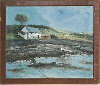 tableau huile sur toile - marine - signée Le Guen