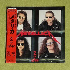 "METALLICA 2 Of One - RARE 1989 JAPAN 8"" LASERDISC SINGLE + OBI (25LP 135)"