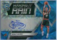 36/60 Brent Barry Auto 2018-19 Spectra Basketball Making It Rain #MR-BBY Sonics