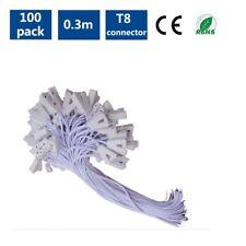 Free shipping 1ft 0.3M white T8 led fluorescent Tube Light bulb Connector 100pcs