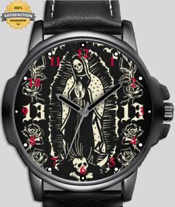 Gothic Saint Skull Skeleton Art Unique Wrist Watch FAST UK