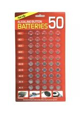 50 ASSORTED BUTTON CELL WATCH BATTERY BATTERIES AG 1 AG3 AG4 AG10 AG12 AG13