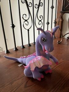 "Barbie 2002 12"" Plush Rapunzel PENELOPE Moves/Talking Purple DRAGON Mattel WORKS"