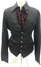 """Raven Gothique 2pcs volants shirt avec Brocart Noir Gilet I3 Tailles 42"""" 44"""", 46"""""""