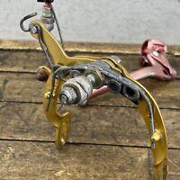 Shimano Tourney Old School BMX Rear Caliper Prebent Brake Lever GOLD RED 1970s