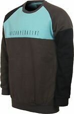 2013 NWT MENS INI COOPERATIVE CREWED FLEECE PULLOVER $75 L charcoal blue block