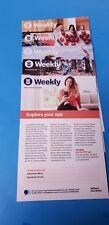 Weight Watchers Lot WW Weekly pamphlets handouts (5) Dec 30-Feb 2