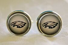 Philadelphia Eagles Cufflinks made from Football Trading Cards Upcycled