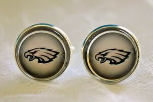 Philadelphia Eagles Cufflinks made from Football Cards, Gift for Men, Dad