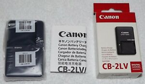 GENUINE CANON CB-2LV Camera Battery Charger - New Old Stock