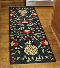 Welcoming Pineapple Hooked Rug Runner by Park Designs, 24x72, Hand Crafted