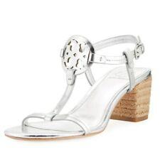 Tory Burch Miller Espadrille Heel Silver Size 8