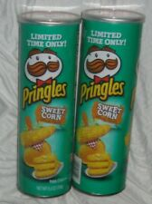 2 Cans Pringles Sweet Corn Potato Chips 5.5 oz Each - Limited Edition -