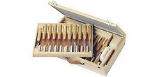 Set completo con box in legno di 25 sgorbie/scalpelli legno PFEIL HBS 25