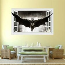 3D Windows Batman Art Vinyl Wall Stickers Decal Kids Boys Room Decor Removable