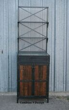 Salon Workstation. Vintage Industrial. Steel & Reclaimed Wood. Stylist/Barber