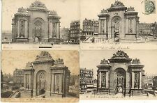 Lot 4 cartes postales anciennes LILLE porte de paris 2