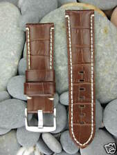 New 24mm Extra Large Gator Leather Strap Band Tang Buckle XL Pam 1950 24