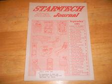 sept 1991 funhouse time traveller wms sys 2 slugfest STAR TECH JOURNAL  manual