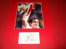 Robert Pires Arsenal FC Legend signed card & photo mount COA AFTAL