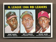 1967 TOPPS RBI LEADERS BASEBALL CARD # 242 - EX-MINT+ CONDITION!